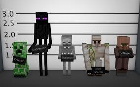 figuras minecraft hostiles